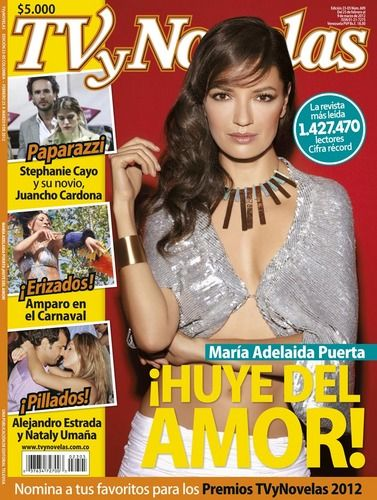 Maria Adelaida Puerta - TV Y Novelas Magazine Cover [Colombia] (25 February 2012)