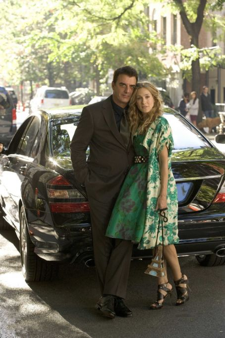Mr. Big Chris Noth (left) stars as '' and Sarah Jessica Parker (right) stars as 'Carrie' in New Line Cinema's upcoming release of SEX AND THE CITY. Photo Credit: Craig Blankenhorn/New Line Cinema