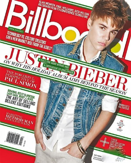 Justin Bieber - Billboard Magazine Cover [United States] (5 November 2011)