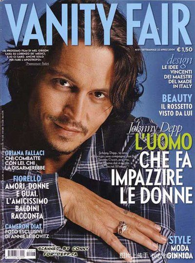 Johnny Depp - Vanity Fair Magazine [Italy] (July 2003)