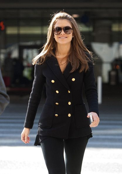 Maria Menounos is all smiles as she arrives at LAX (Los Angeles International Airport