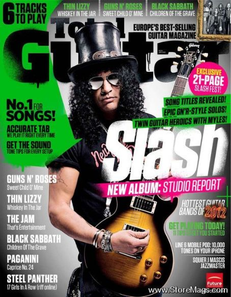 Slash - Total Guitar Magazine Cover [United Kingdom] (January 2012)