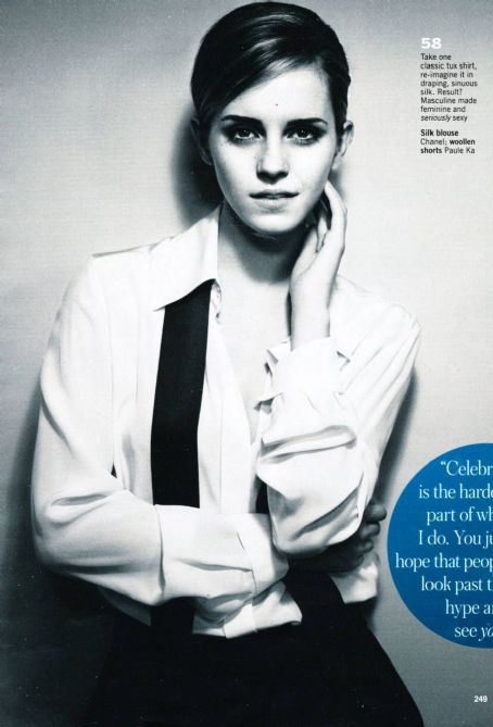 Emma Watson Glamour UK October 2012