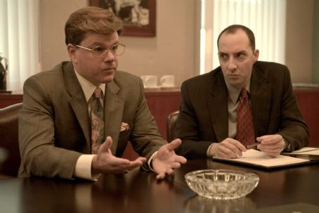 Tony Hale MATT DAMON as Mark Whitacre and TONY HALE as James Epstein in Warner Bros. Pictures', Participant Media's and Groundswell Productions' offbeat comedy 'The Informant!,' a Warner Bros. Pictures release. Photo by Claudette Barius