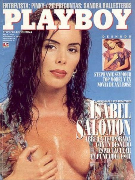 Isabel Salomón, Stephanie Seymour - Playboy Magazine Cover [Argentina] (November 1993)