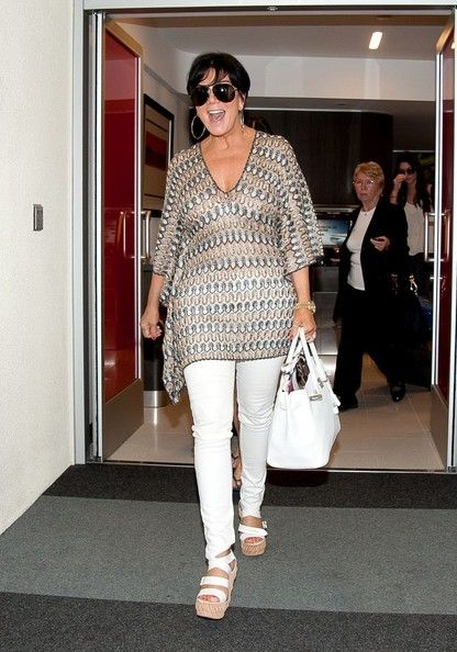 KrisJenner arrive at LAX (Los Angeles International Airport)