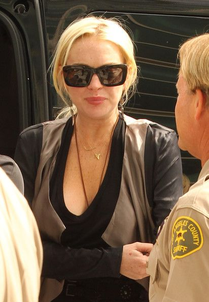 Lindsay Lohan Wears $1,200 Heels to Court, Says She Can't Afford Counseling