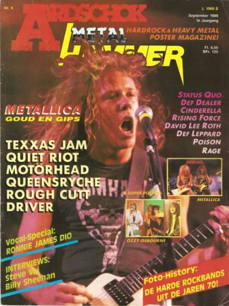 James Hetfield - Aardschock Magazine Cover [Netherlands] (September 1986)