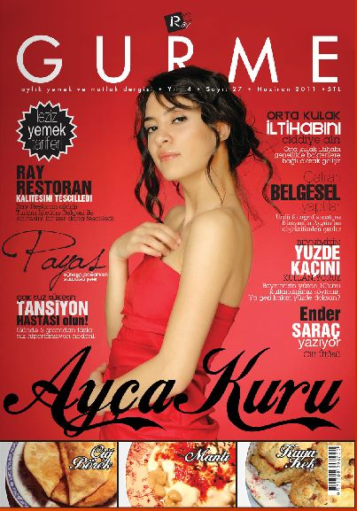 Ayça Kuru - Gurme Magazine Cover [Turkey] (June 2011)