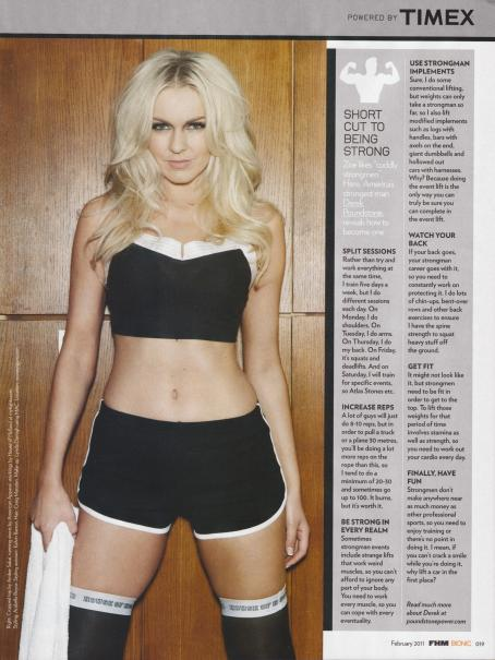 Zoe Salmon FHM Bionic UK February 2011 Magazine