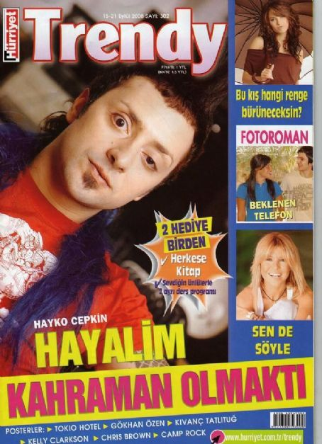 Hayko Cepkin, Gülben Ergen - Trendy Magazine Cover [Turkey] (15 September 2008)