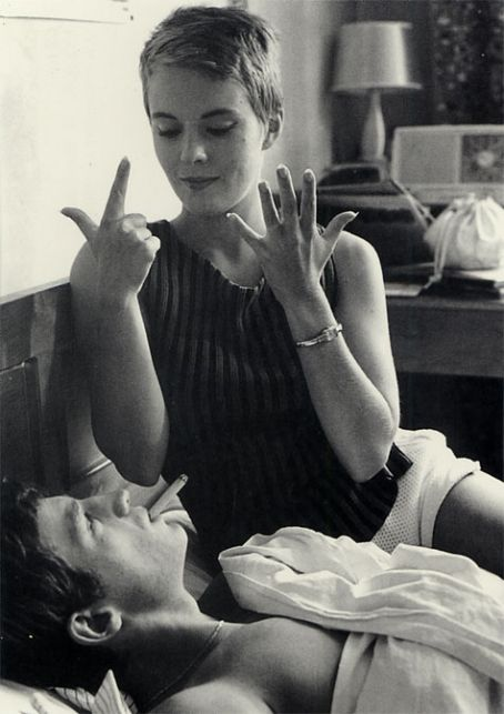 Jean-Paul Belmondo and Jean Seberg