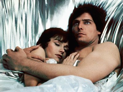 Superman Margot Kidder and Christopher Reeve in  II (1980)