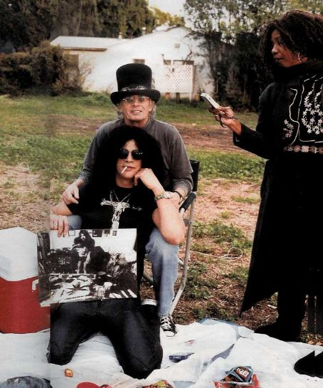 Ola Hudson, Anthony Hudson and son Slash. 2004.