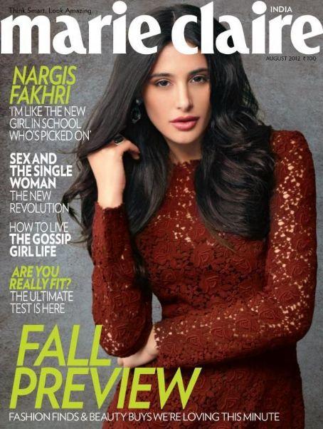 Nargis Fakhri - Marie Claire Magazine Cover [India] (August 2012)