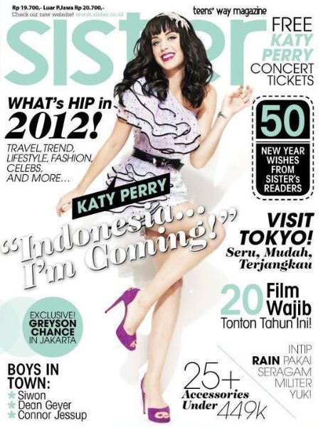 Katy Perry - Sister Magazine Cover [Indonesia] (December 2011)