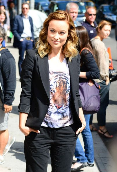 Olivia Wilde arriving for her appearance on the Late Night With David Letterman show in Manhattan, New York on June 18, 2012