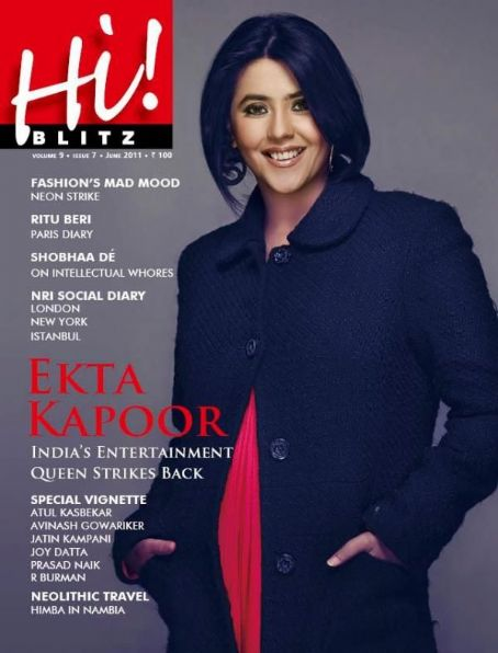 Ekta Kapoor  - Hi! BLITZ Magazine Pictorial [India] (June 2011)