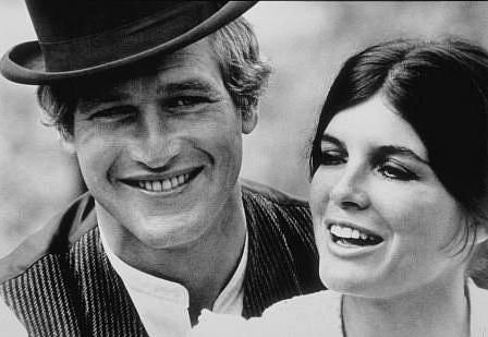 Katharine Ross and Paul Newman