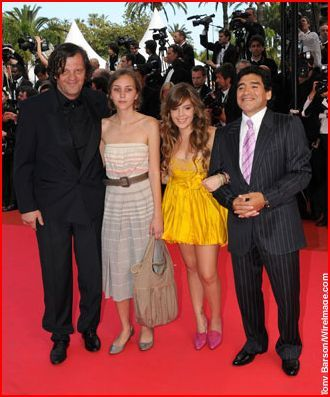 Diego Armando Maradona Celebrities walk the red carpet at the 'Che' premiere at the 61st International Cannes Film Festival on May 21, 2008