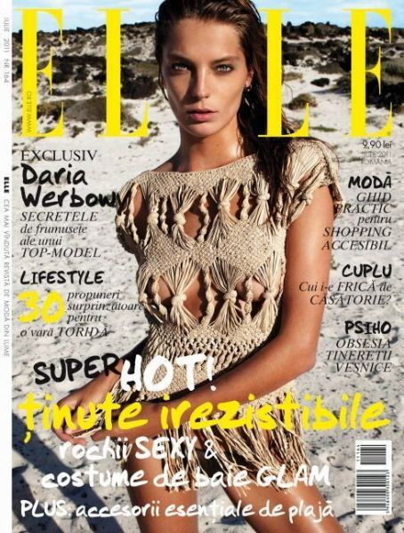 Daria Werbowy - Elle Magazine Cover [Romania] (July 2011)