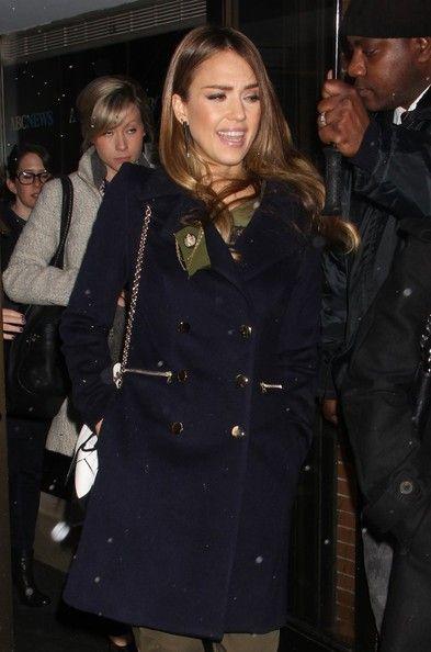 Jessica Alba: outside the studios in New York City