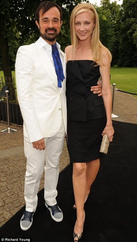 Evgeny Lebedev and Joely Richardson