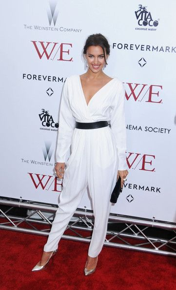 "Irina Shayk attending the premiere of ""W.E"" hosted by The Weinstein Company with The Cinema Society & Forevermark at the Ziegfeld Theatre in New York City"