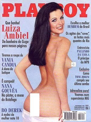 Luiza Ambiel - Playboy Magazine Cover [Brazil] (February 1996)