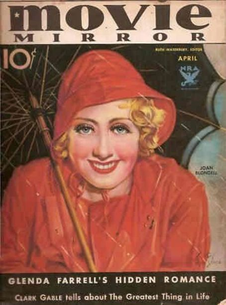 Joan Blondell - Movie Mirror Magazine [United States] (April 1934)