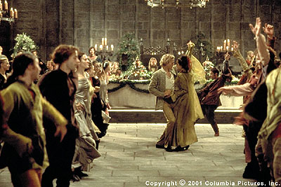 A Knight's Tale At a festive banquet, William (Heath Ledger) woos fair maiden Jocelyn (Shannyn Sossamon) to the tune of David Bowie's 'Golden Years' in the Columbia Pictures presentation, A Knight's Tale - 2001
