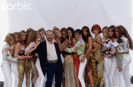 Gianni Versace Gianni and the models