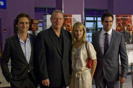 Al Gore Lawrence Bender, , Melanie Laurent and Eli Roth attend a screening of