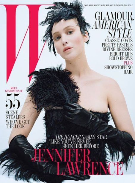 Jennifer Lawrence: October 2012 issue of W magazine