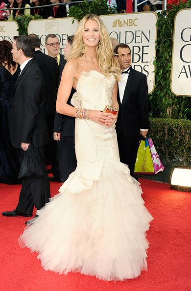 Elle Macpherson arrives at the 69th Annual Golden Globe Awards held at the Beverly Hilton Hotel on January 15, 2012 in Beverly Hills