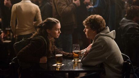 The Social Network Rooney Mara, left, and Jesse Eisenberg in Columbia Pictures' '.' Photo By: Merrick Morton