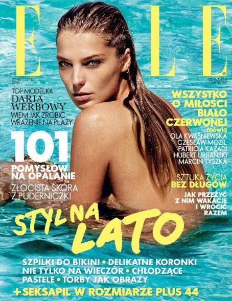 Daria Werbowy - Elle Magazine Cover [Poland] (July 2011)