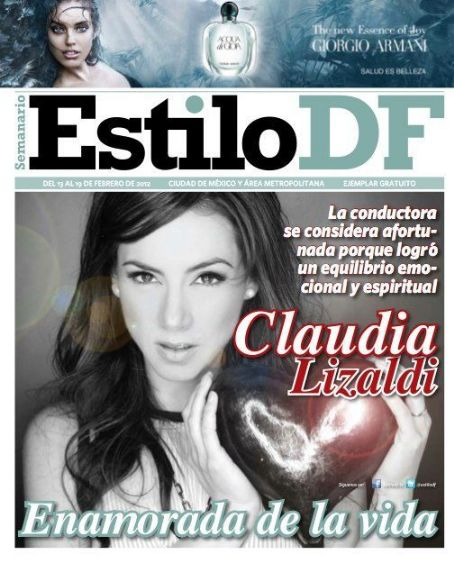 Claudia Lizaldi - Estilo Df Magazine Cover [Mexico] (13 February 2012)