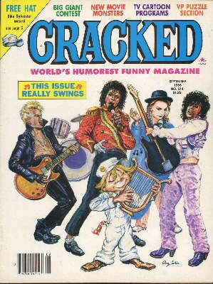 Billy Idol - Cracked Magazine [United States] (September 1985)