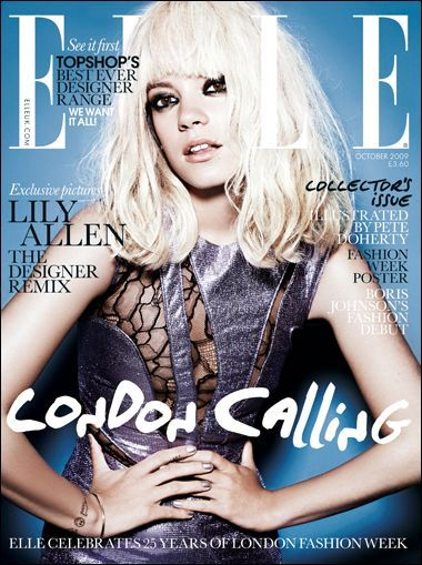 Lily Allen - Elle Magazine [United Kingdom] (October 2009)