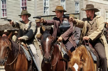 American Outlaws Scott Caan, Colin Farrell and Gabriel Macht in Warner Brothers'  - 2001