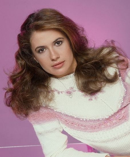 Falcon Crest Ana Alicia SO 80's in Cute White and Purple Sweater