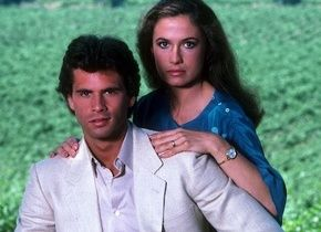 Ana Alicia Lorenzo Lamas and  in Sultry Falcon Crest Still