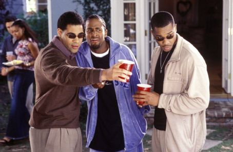 Mel Jackson  (left), Dartanyan Edmonds (center) and Duane Martin (right) in Focus' Deliver Us From Eva - 2003