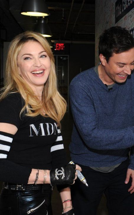 Jimmy Fallon - Madonna Holds Facebook Chat, Takes Ultra Music Stage