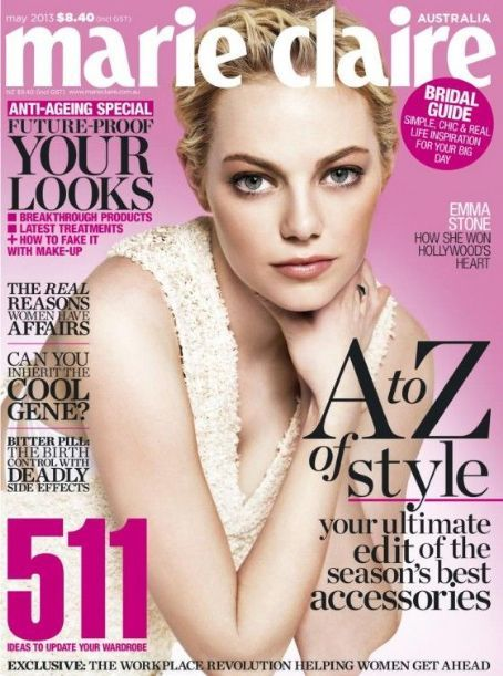 Emma Stone - Marie Claire Magazine Cover [Australia] (May 2013)