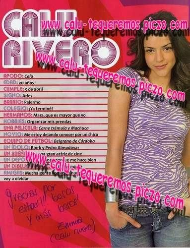 Calu Rivero Magazine photos