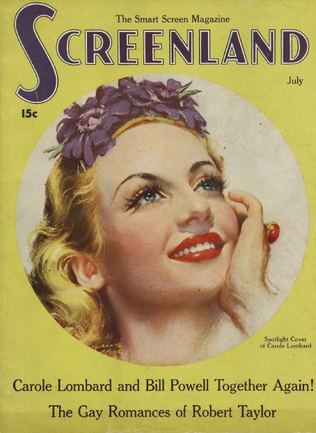 Carole Lombard - Screenland Magazine [United States] (July 1936)