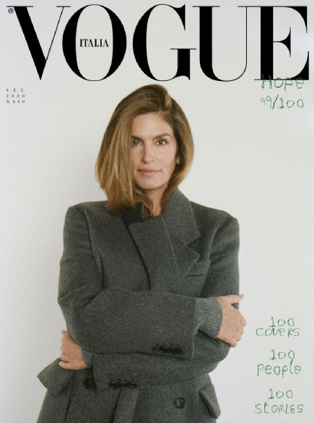 Cindy Crawford - Vogue Magazine Cover [Italy] (September 2020)