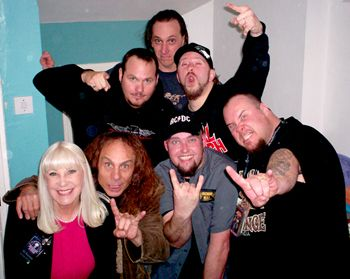 Ronnie and Wendy Dio with band Anthrax